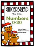 Gingerbread Numbers 0-20 File Folders