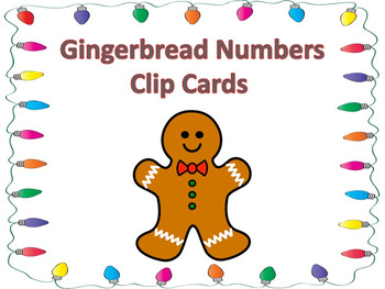 Gingerbread Numbers Clip Cards
