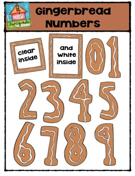 Gingerbread Numbers {P4 Clips Trioriginals Digital Clip Art}