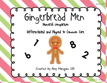 Gingerbread Numeral Comparison - Differentiated and Aligned to CCSS!