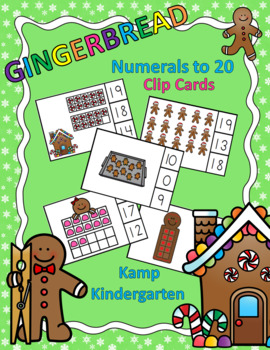 Gingerbread Numerals to 20 Clip Cards