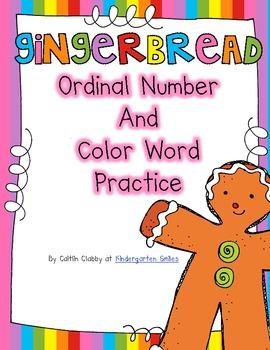 Gingerbread Ordinal Numbers