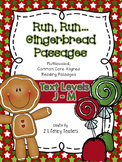 Gingerbread Passages: CCSS Aligned LEVELED J-M Reading Passages & Activities