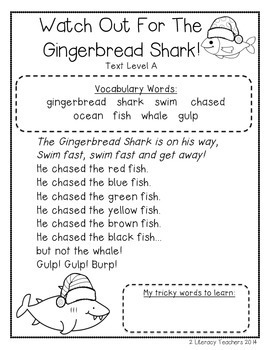 Gingerbread Passages: CCSS Aligned Leveled Reading Passages and Activities