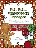 Gingerbread Passages: CCSS Aligned Leveled Reading Passages & Activities A - I