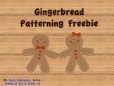 Gingerbread Patterning Activity FREEBIE