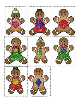 Gingerbread People Shape Sorting Activity - Sort the Shapes Into Cookie Jars