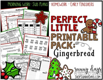 Gingerbread {Perfect Little Printable Pack}
