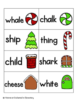 Gingerbread Phonics: Beginning Digraphs Pack