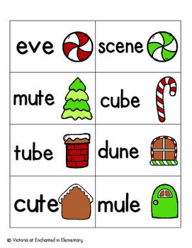 Gingerbread Phonics: Silent E Words Pack
