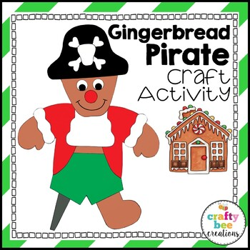 Gingerbread Pirate Cut and Paste