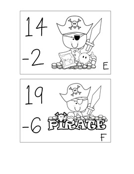 """Gingerbread Pirate """"Walk the Room"""" Addition and Subtraction to 20"""