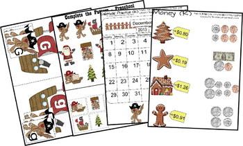 Gingerbread Pirates Unit for December - Preschool, Kindergarten, 1st, 2nd