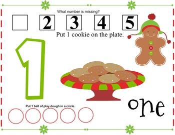 Gingerbread Play Dough Mats 1-5