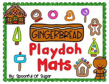 Gingerbread Play-doh Mats