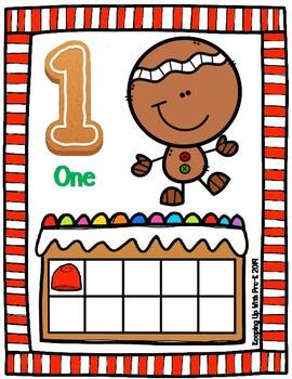 Gingerbread Playdough Mats 1-10