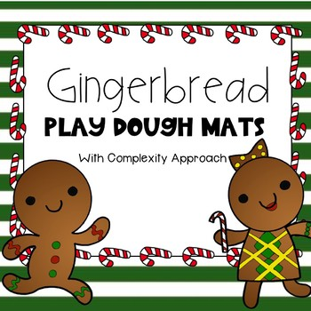 Gingerbread Playdough Mats- Speech Sound Complexity Approach