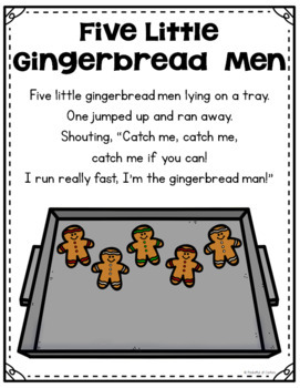 Gingerbread Pocket Chart