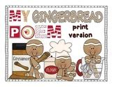 Gingerbread Poem