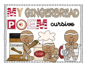 Gingerbread Poem Cursive Version