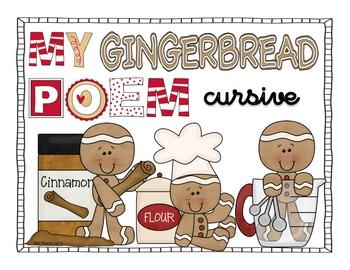 Gingerbread Poem Cursive Version