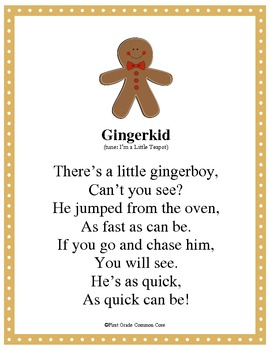 Gingerbread Poems and Songs
