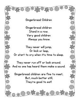 Gingerbread Poetry Center Pack