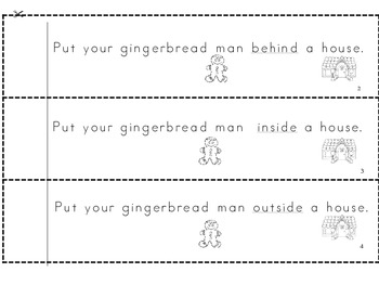 Gingerbread Position Words Booklet