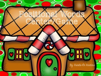 Gingerbread Positional Words Game/Center
