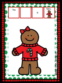 Gingerbread Possessive Pronoun Packet for Speech Therapy