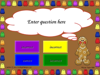 Gingerbread PowerPoint Game Template