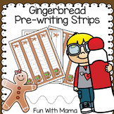 Gingerbread Pre-writing Tracing Strips