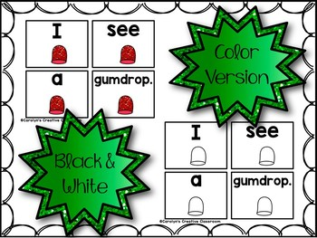 Gingerbread Predictable Sentences - Pocket Chart Sentences Cards