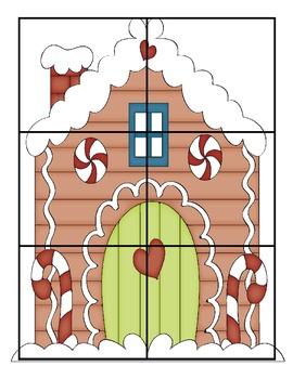 Gingerbread Preschool and Kindergarten Counting Game!