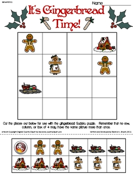 Gingerbread Primary Sudoku