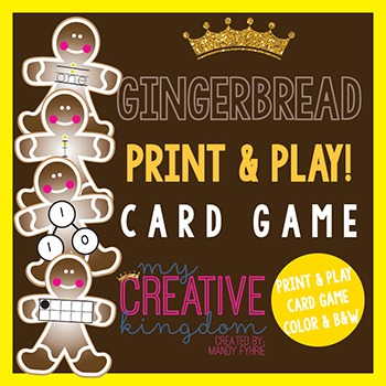 Gingerbread Print and Play Card Game