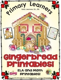 Gingerbread Printables - ELA, Math, & Writing Printables f