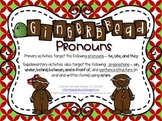 Gingerbread Pronouns – Holiday Language Activities with a Gingerbread Theme