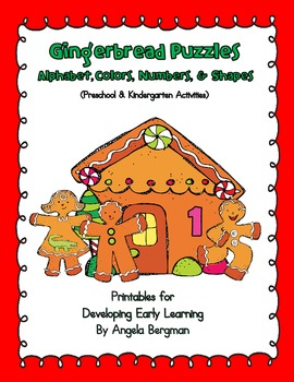 Gingerbread Puzzles ~ Alphabet, Colors, Numbers, and Shapes