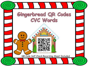 Gingerbread QR Code CVC Words