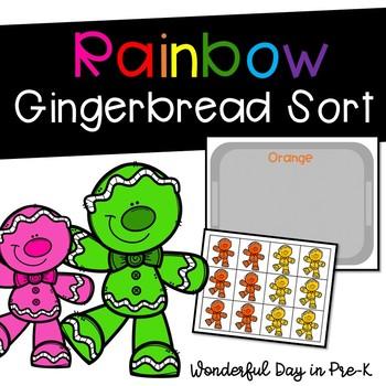 Gingerbread Rainbow Sort