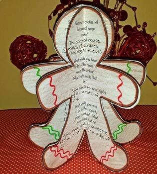 Gingerbread Ratios - A December Math Craftivity