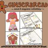 Gingerbread: Reading Comprehension, Writing and Craftivities
