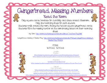 Gingerbread Read the Room Missing Numbers 0-20
