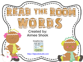Gingerbread Read the Room Words