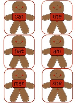 Gingerbread Reading Center- CVC and Sight Word