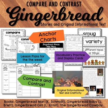 Gingerbread Compare and Contrast Gingerbread Baby and othe