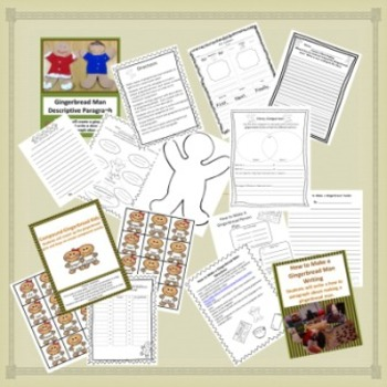 Gingerbread Reading, Writing and Word Work Unit