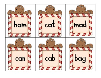 Gingerbread Real and Nonsense Activity