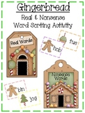 Gingerbread Real and Nonsense Word Sorting Activity